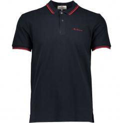 Koszulka polo w kolorze czarnym. Czarne koszulki polo marki Ben Sherman, m, z haftami, z bawełny. W wyprzedaży za 108,95 zł.