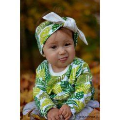 Bluzy dziewczęce rozpinane: Bluza dziecięca zielone liście