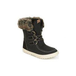 Śniegowce Roxy  RAINIER J BOOT BLK. Czarne buty zimowe damskie Roxy. Za 398,30 zł.