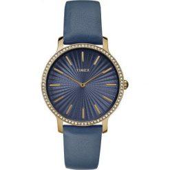 Zegarek Timex Damski TW2R51000 Metropolitan 34 Slim Gold granatowy. Niebieskie zegarki damskie Timex. Za 288,99 zł.