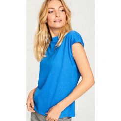 Gładki t-shirt - Niebieski. Niebieskie t-shirty damskie Reserved, l. Za 24,99 zł.