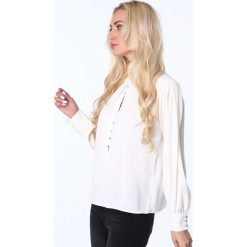 Koszula zapinana pod szyję kremowa MP28540. Białe koszule damskie Fasardi, l. Za 63,20 zł.
