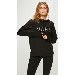 Guess Jeans - Bluza Bebe. Szare bluzy rozpinane damskie Guess Jeans, m, z aplikacjami, z bawełny, z kapturem. Za 399,90 zł.