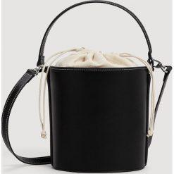 Mango - Torebka Bucket. Szare torebki worki marki Mango, w paski, z bawełny, średnie. Za 139,90 zł.