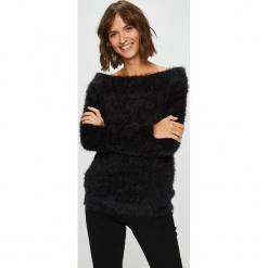 Answear - Sweter. Czarne swetry klasyczne damskie ANSWEAR, l, z dzianiny. W wyprzedaży za 79,90 zł.