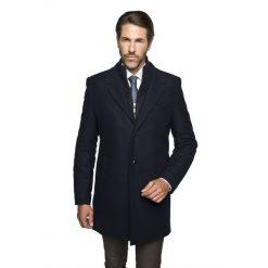 Płaszcze męskie: płaszcz adley granatowy
