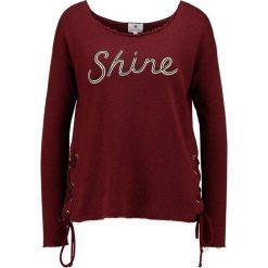 Bluzy rozpinane damskie: Sundry LACE UP Bluza burgundy