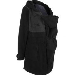 Płaszcze damskie pastelowe: Płaszcz budrysówka ciążowy z wstawką niemowlęcą bonprix czarny