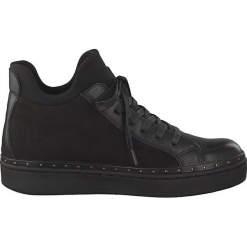 Sneakersy w kolorze czarnym. Szare sneakersy damskie marki Marco Tozzi. W wyprzedaży za 136,95 zł.