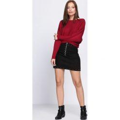 Swetry klasyczne damskie: Bordowy Sweter Distant Drums