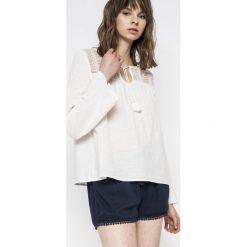 Roxy - Bluzka. Szare bluzki asymetryczne Roxy, m, z bawełny, casualowe, z okrągłym kołnierzem. W wyprzedaży za 159,90 zł.