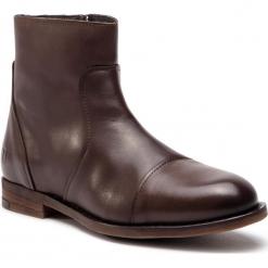 Kozaki TRUSSARDI JEANS - 77A001179 B220. Brązowe botki męskie Trussardi Jeans, z jeansu. Za 809,00 zł.