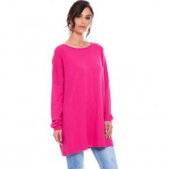 """Sweter """"Odile"""" w kolorze różowym. Czerwone swetry klasyczne damskie marki Cosy Winter, s, z okrągłym kołnierzem. W wyprzedaży za 181,95 zł."""