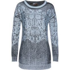 Sweter z kaszmirem bonprix pudrowy niebieski - nocny niebieski - srebrny. Fioletowe swetry klasyczne damskie bonprix, z kaszmiru, z dekoltem w łódkę. Za 149,99 zł.