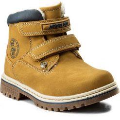Buty zimowe chłopięce: Trapery ACTION BOY – CP07-16994-03 Miodowy
