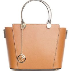 Torebki klasyczne damskie: Skórzana torebka w kolorze brązowym – 30 x 35 x 15 cm