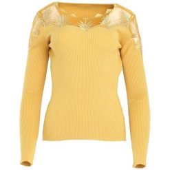 Żółty Sweter Do Not Wait. Żółte swetry klasyczne damskie marki Mohito, l, z dzianiny. Za 79,99 zł.