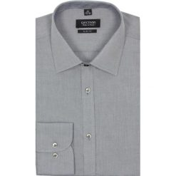 Koszula bexley 1995 długi rękaw slim fit szary. Szare koszule męskie na spinki marki Recman, na lato, m, z bawełny, z klasycznym kołnierzykiem, z długim rękawem. Za 29,99 zł.