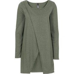 Długa bluza bonprix oliwkowy. Zielone długie bluzy damskie bonprix, z długim rękawem. Za 34,99 zł.