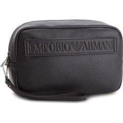 Kosmetyczka EMPORIO ARMANI - Y4R180 YG89J 81072 Black. Czarne kosmetyczki męskie Emporio Armani, ze skóry ekologicznej. W wyprzedaży za 449,00 zł.