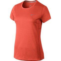 Nike Koszulka damska Miler pomarańczowa r. XS (686911 842). Brązowe topy sportowe damskie Nike, xs. Za 92,29 zł.