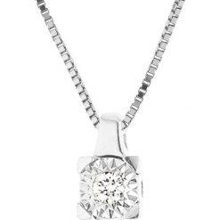 Naszyjniki damskie: Złoty naszyjnik z diamentem – dł. 42 cm