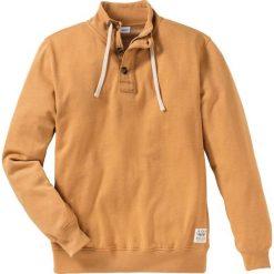 Bluza z zamkiem i plisą guzikową Regular Fit bonprix ciemnożółty. Żółte bluzy męskie rozpinane bonprix, m. Za 49,99 zł.