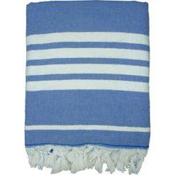 """Chusta hammam """"Ohana"""" w kolorze granatowo-białym - 180 x 140 cm. Niebieskie chusty damskie Le Comptoir de la Plage, z bawełny. W wyprzedaży za 86,95 zł."""