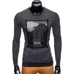 Bluzy męskie: BLUZA MĘSKA BEZ KAPTURA Z NADRUKIEM B805 - GRAFITOWA