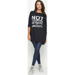 Bluzy damskie: Granatowa Bluza Not Eccentric