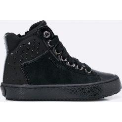 Geox - Trampki dziecięce. Czarne buty sportowe dziewczęce Geox, z materiału, na sznurówki. W wyprzedaży za 219,90 zł.