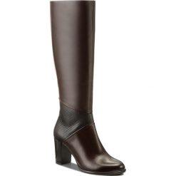 Kozaki GINO ROSSI - Frida DKH695-S98-0BQZ-3740-F 92/89. Czarne buty zimowe damskie marki Gino Rossi, z materiału, na obcasie. W wyprzedaży za 399,00 zł.