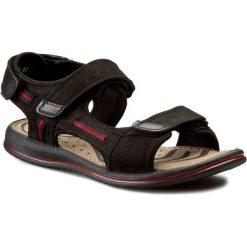Sandały GREGOR - 01630-ME-NT10 Czarny/Czerwony. Czarne sandały męskie skórzane Gregor. W wyprzedaży za 149,00 zł.