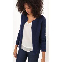 Rozpinany sweter o krótkim kroju pudełkowym. Czarne kardigany damskie La Redoute Collections, l, z bawełny. Za 220,46 zł.