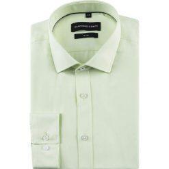 Koszula SIMONE KDYS000497. Żółte koszule męskie na spinki Giacomo Conti, m, z bawełny, z włoskim kołnierzykiem, z długim rękawem. Za 149,00 zł.