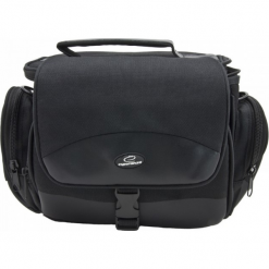 Esperanza torba ET147 na Aparat i akcesoria. Czarne torby na ramię męskie ESPERANZA, w paski, z gumy, na ramię, małe. Za 49,90 zł.