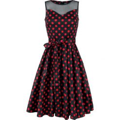 Dolly and Dotty Elizabeth Swing Dress Sukienka czarny/czerwony. Czarne sukienki na komunię marki Dolly and Dotty, xxl, w grochy, z dekoltem na plecach, oversize. Za 244,90 zł.