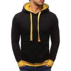 Bluzy męskie: Bluza męska z kapturem czarna (bx2077)