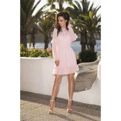 Sukienki: Zwiewna sukienka pudrowy róż