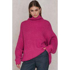 Free People Sweter Swim Too Deep - Pink. Różowe golfy damskie Free People, z bawełny. W wyprzedaży za 176,69 zł.
