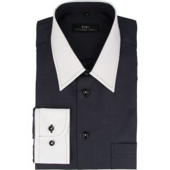 Koszula ARMANDO slim 14-09-20. Niebieskie koszule męskie na spinki marki bonprix, m, z nadrukiem, z klasycznym kołnierzykiem, z długim rękawem. Za 169,00 zł.