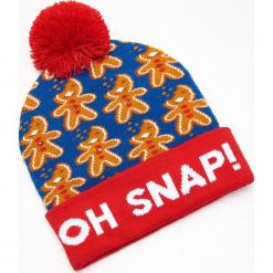 Czapka świąteczna ze światełkami LED - Niebieski. Niebieskie czapki męskie marki Cropp, wizytowe. Za 39,99 zł.