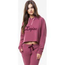 Cardio Bunny - Bluza Lipgloss. Różowe bluzy rozpinane damskie Cardio Bunny, l, z nadrukiem, z bawełny, z kapturem. W wyprzedaży za 159,90 zł.