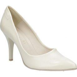 Beżowe szpilki czółenka ślubne Casu 1799. Brązowe buty ślubne damskie Casu. Za 78,99 zł.