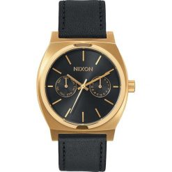 Zegarki męskie: Zegarek męski Gold Black Sunray Nixon Time Teller Deluxe Leather A9271604