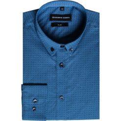 Koszula SIMONE KDGS000241. Czarne koszule męskie na spinki marki TOM TAILOR DENIM, l, z bawełny, button down, z długim rękawem. Za 169,00 zł.