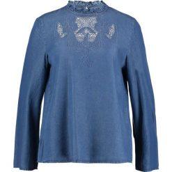 Bluzki asymetryczne: Cortefiel BORDADO Bluzka blue