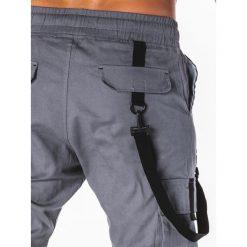 SPODNIE MĘSKIE JOGGERY P716 - SZARE. Szare joggery męskie Ombre Clothing. Za 74,00 zł.