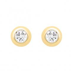 Złote kolczyki z cyrkoniami. Żółte kolczyki damskie Golden Moments, z cyrkonią, złote. W wyprzedaży za 189,95 zł.