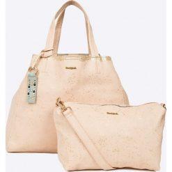 Shopper bag damskie: Desigual – Torebka Metallic Splater
